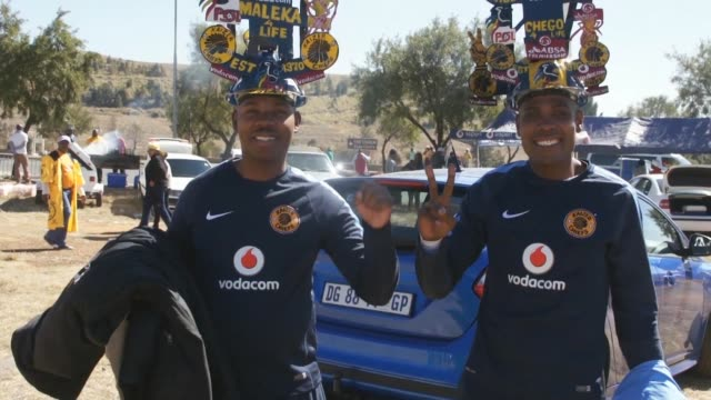 The two main football teams in the South African city of Soweto Kaizer Chiefs and Orlando Pirates battle in the Carling Black Label Cup at the FNB...