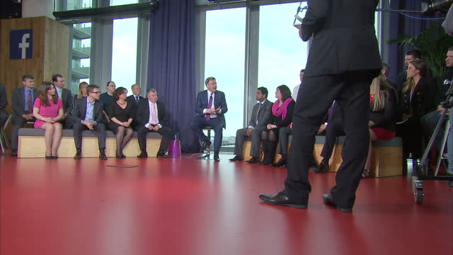 stockvideo's en b-roll-footage met the two men vying to become chancellor after the general election were questioned on sky news today in a bid to win your vote the current man george... - bod