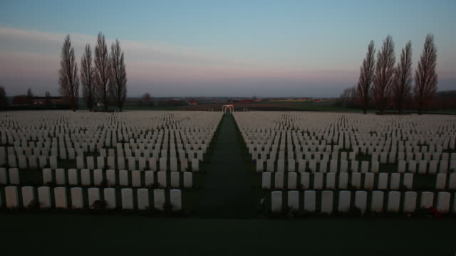 The Tyne Cot Commonwealth War Graves Cemetery and Memorial to the Missing located near Passendale in Belgium is a Commonwealth War Graves Commission...