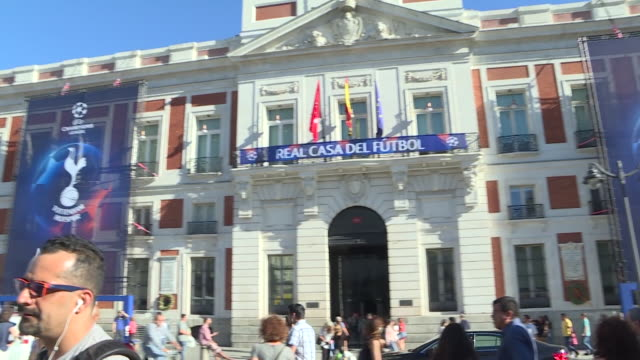 The UEFA Champions League trophy is displayed at Casa de Correos the Madrid region's headquarters next to the 'Champions Legends Gallery' exhibition...