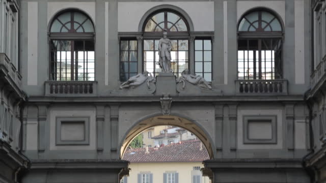 the uffizi, florence, tuscany, italy, europe - art gallery stock videos & royalty-free footage