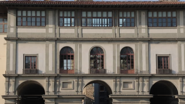 the uffizi & vasari corridor, florence, tuscany, italy, europe - art gallery stock videos & royalty-free footage