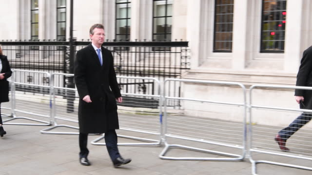 the uk attorney general jeremy wright mp arrives at the supreme court in london on december 6th 2016the eleven supreme court justices are hearing the... - article stock videos & royalty-free footage