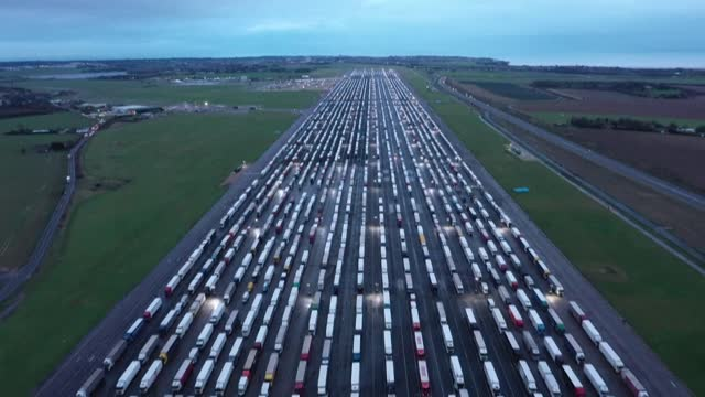 the uk faces a crisis at the port of dover after france imposed a 48-hour blockade on people and lorries crossing the english channel to contain a... - france stock videos & royalty-free footage