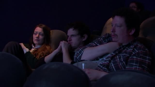 the ukranian film 'the tribe' has cast who are entirely deaf and act using sign language england london int people sitting in cinema screen... - hearing impairment stock videos & royalty-free footage