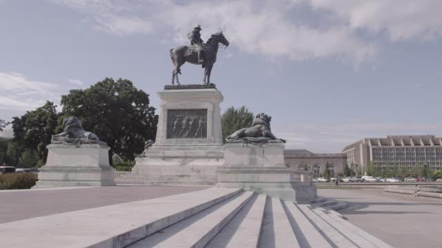 vídeos y material grabado en eventos de stock de ws the ulysses s grant memorial near the us capitol / washington dc, united states - ulysses s grant