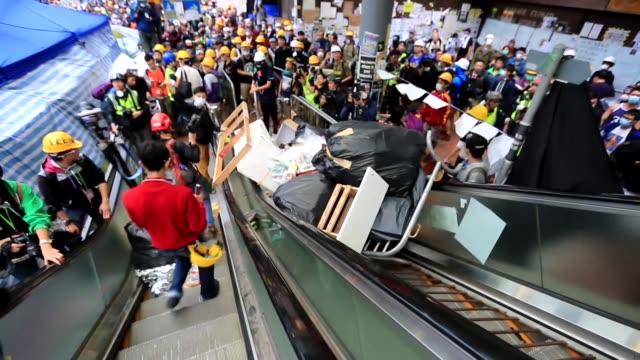The Umbrella Revolution protest in Hong Kong