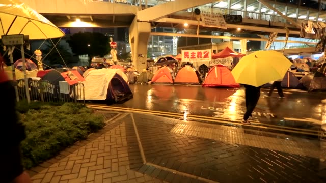 The Umbrella Revolution protest in Hong Kong