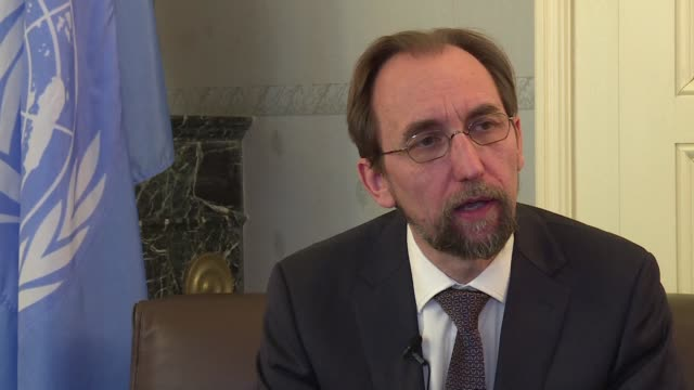 the un high commissioner for human rights zeid ra'ad al hussein says myanmar clearly planned violent attacks on its rohingya minority causing a mass... - rohingya culture stock videos and b-roll footage