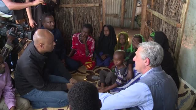 The UN High Commissioner for refugees Filippo Grandi and the Canadian Minister of Immigration Refugees and Citizenship Ahmed Hussen visit the Dadaab...