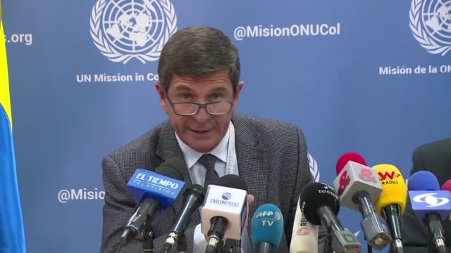 the un in colombia announced on thursday it is ready to complete the farc disarmament process by the end of may as was previously agreed between the... - disarmament stock videos and b-roll footage
