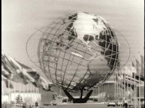 the unisphere stands in flushing meadows park in new york city. - unisphere stock videos & royalty-free footage