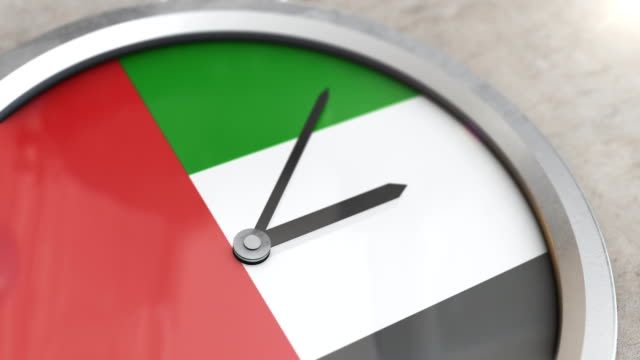 vídeos de stock e filmes b-roll de the united arab emirates clock time lapse - catar