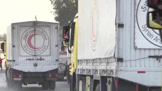 The United Nations delivered aid on Friday to a rebel held town east of Damascus in the second distribution of assistance since a shaky truce began...