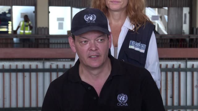 the united nations office for the coordination of humanitarian affairs indicates that they will bring more help for mozambicans affected by cyclone... - mozambique stock videos & royalty-free footage
