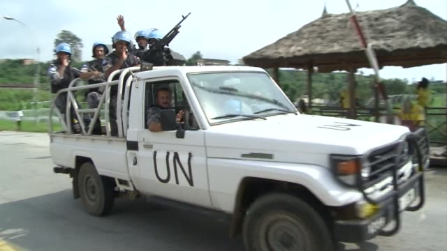 the united nations peacekeeping force in ivory coast has refused a demand by the country's isolated leader laurent gbagbo to leave the country... - côte d'ivoire stock videos & royalty-free footage