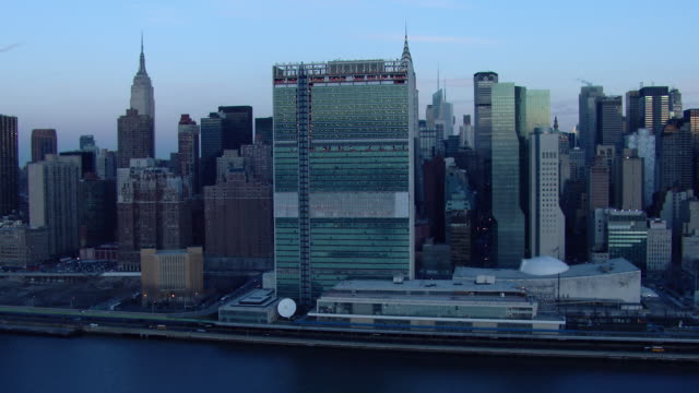 The United Nations Secretariat Building, part of the UN Headquarters in Manhattan, NYC.