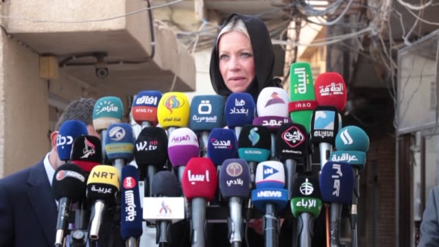 the united nations top official in iraq jeanine hennis plasschaert urges authorities to get serious about reforms after anti government... - najaf stock videos & royalty-free footage