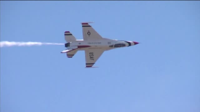 ktxl the united states air force thunderbirds at the california capital air show - thunderbirds stock videos and b-roll footage