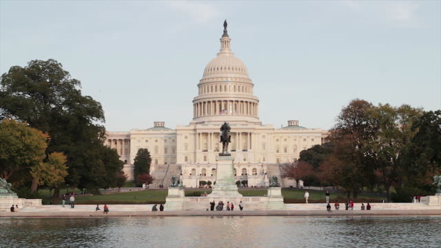 the united states capitol, congress in washington dc - capitol building washington dc stock videos & royalty-free footage
