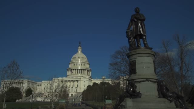 The United States Capitol West With James A. Garfield Statue in Foreground in Washington, DC