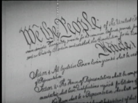 1946 cu the united states constitution / washington d.c., united states - constitution stock videos & royalty-free footage