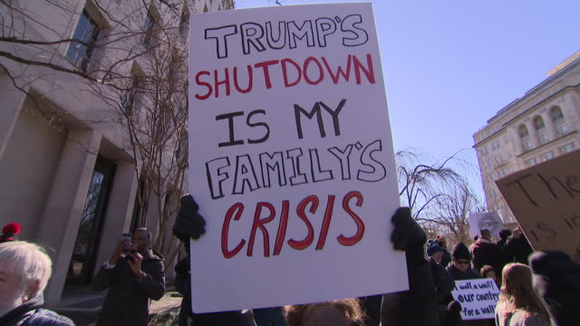 the united states government is now in the grip of the longest shutdown in its history. 800-thousand workers missed out on a monthly wage yesterday,... - government shutdown stock videos & royalty-free footage