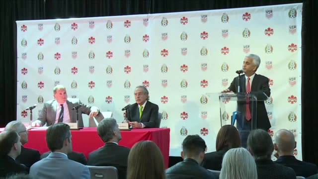 The United States Mexico and Canada announce a joint bid to stage the 2026 World Cup aiming to become the first three way cohosts in the history of...