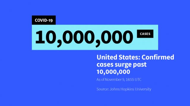 the united states records its 10 millionth case of the coronavirus, according to a count by johns hopkins university, the same day that pfizer and... - epidemic stock videos & royalty-free footage