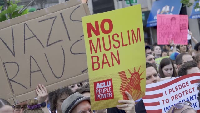 the united states supreme court on tuesday upheld president donald trump's controversial travel ban on travelers from mostly muslim countries... - prohibition stock videos & royalty-free footage