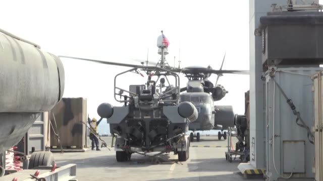 vídeos de stock, filmes e b-roll de the united states trains international allies during the international maritime exercise held in the gulf waters off bahrain to protect navigation in... - países do golfo
