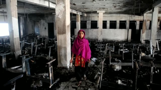 the unlicensed garment factory in the bangladesh capital where seven women workers died in a fire was making clothing for spanish giant inditex and... - garment stock videos & royalty-free footage