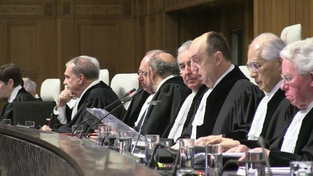 the un's highest international court of justice on monday began hearing a court case between croatia and serbia over genocide allegedly committed in... - international court of justice stock videos and b-roll footage
