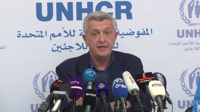 the un's refugee agency says it has urged syria's government to allow it access to all parts of the war torn country where displaced people have... - lebanon country stock videos & royalty-free footage