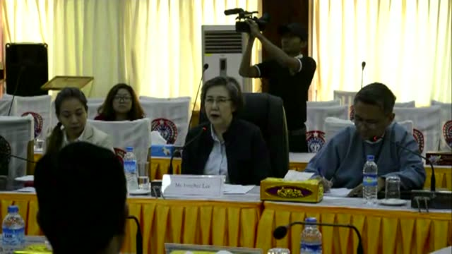 the un's rights envoy for myanmar is in troubled rakhine state for a trip north to probe allegations of horrific abuse of rohingya muslims by... - rohingya culture stock videos and b-roll footage