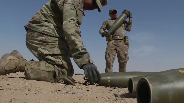 the us ambassador to kuwait donated some old unserviceable vehicles to the 797th explosive ordinance disposal company for training - disposal stock videos and b-roll footage
