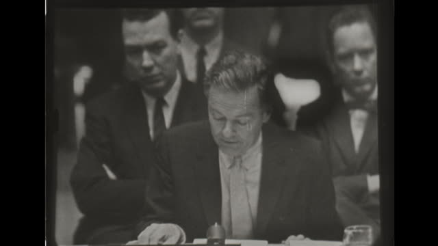 the us ambassador to the united nations speaks about comments made by soviet minister of foreign affairs andrei gromyko. - 1960 stock videos & royalty-free footage