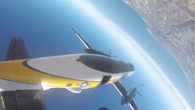 The US Army Golden Knights performing at the 2014 Miramar Air Show aboard Marine Corps Air Station Miramar Calif Oct 5 The Golden Knights jumped from...