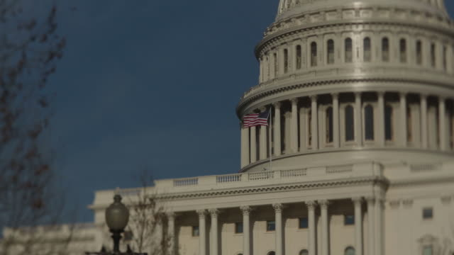 the us capitol stands in this tiltshift video taken in washington dc us on thursday march 29 2018 - usa:s senat bildbanksvideor och videomaterial från bakom kulisserna