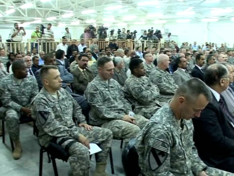 the us military handed over one of its two remaining detention facilities to iraqi authorities on monday further winding down its operations as it... - 2010 video stock e b–roll