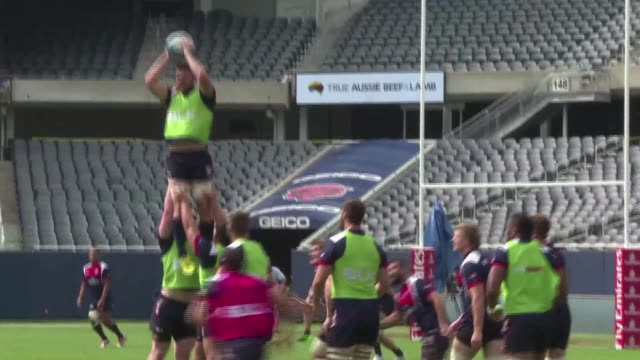 vídeos de stock e filmes b-roll de the us rugby team have been steadily building towards the world cup this month in london where they will face south africa samoa japan and scotland... - samoa