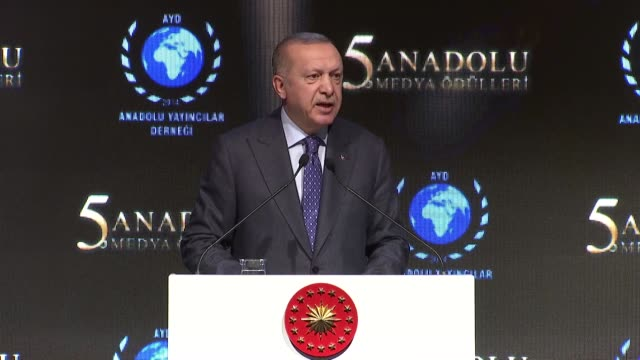 "the u.s.' so-called middle east peace plan is an ""occupation project,"" turkish president recep tayyip erdogan said on thursday. speaking at the 5th... - media occupation stock videos & royalty-free footage"