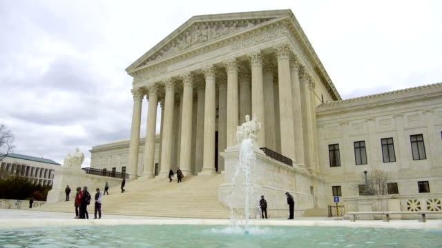 the u.s. supreme court building stands on capitol hill in washington, d.c., u.s., on tuesday, april 17, 2018. - supreme court stock videos & royalty-free footage