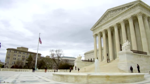 the us supreme court building stands on capitol hill in washington dc us on tuesday april 17 2018 - oberstes bundesgericht der usa stock-videos und b-roll-filmmaterial
