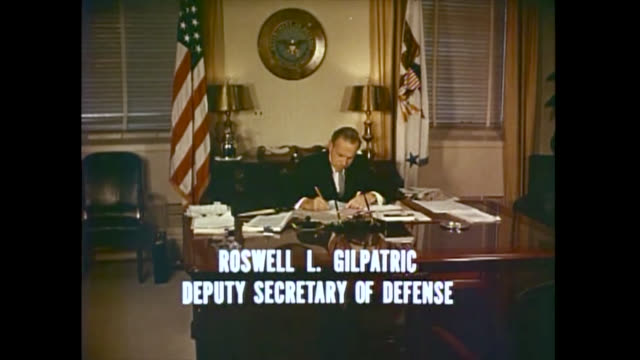 in the image also appears, cyrus r. vance , fred korth , and eugene m. zuckert . b-roll historical footage from a pentagon video report. the clip has... - the pentagon stock videos & royalty-free footage