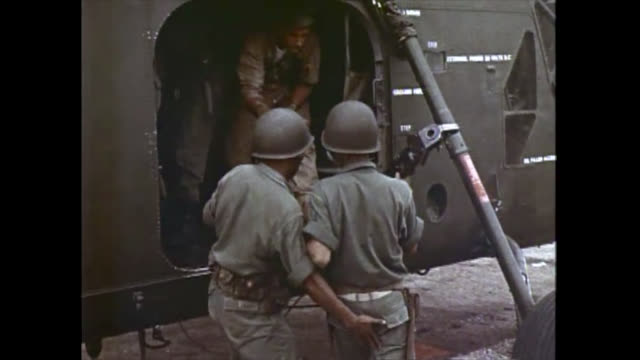training of vietnamese soldiers by the usa army during the cold war. b-roll historical footage from a pentagon video report. the clip has been... - colour image stock videos & royalty-free footage