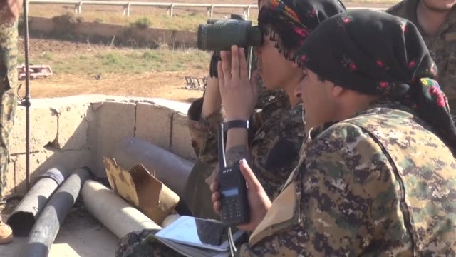 the usbacked syrian democratic forces pushed ahead with their advance on raqa saturday in the city's northern countryside where they were met with... - syrian democratic forces stock videos & royalty-free footage