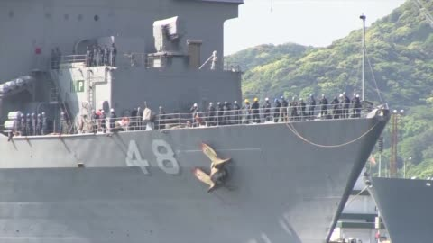 the uss ashland returns to sasebo, japan after a two month patrol - homecoming stock videos & royalty-free footage