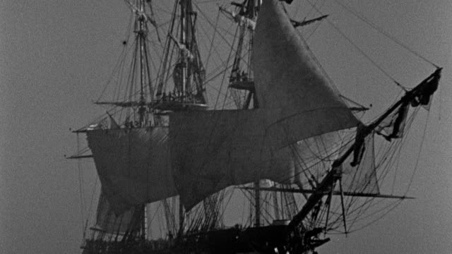 the uss constitution fires a volley at a pirate ship in tripoli harbor. - artillery stock videos & royalty-free footage