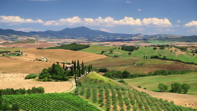 the val d'orcia and il belvedere in tuscany, italy. - toskana stock-videos und b-roll-filmmaterial